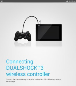 SonyTabletPScontroller